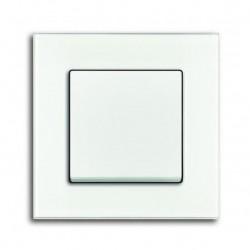Rámeček ABB SOLO CARAT bílé sklo