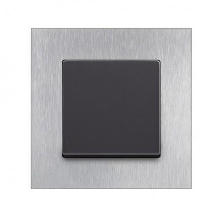 Rámeček ABB SOLO CARAT ušlechtilá ocel