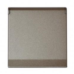 Zásuvka Future Linear metalická šedá