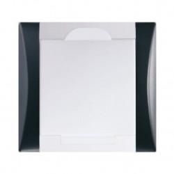 Zásuvka Elegant černá/bílá