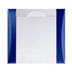 Zásuvka Elegant tmavá modrá/bílá