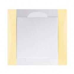 Zásuvka Elegant vanilková žlutá/bílá