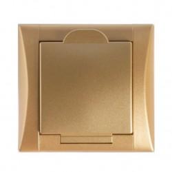 Zásuvka Elegant zlatá/zlatá