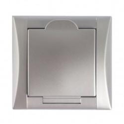 Zásuvka Elegant stříbrná/stříbrná