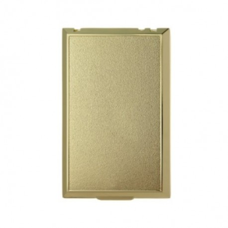 Zásuvka celoplošná kovová - zlatá