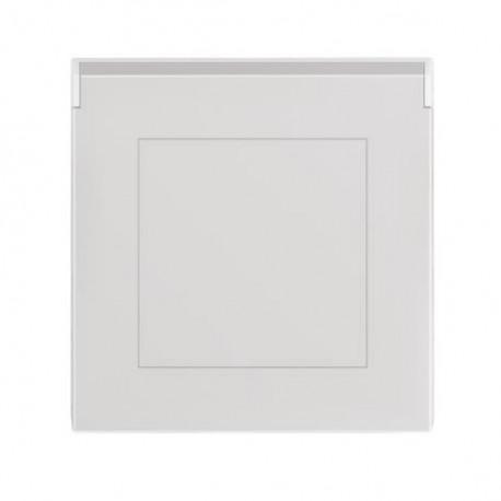 Zásuvka ABB LEVIT šedá/bílá