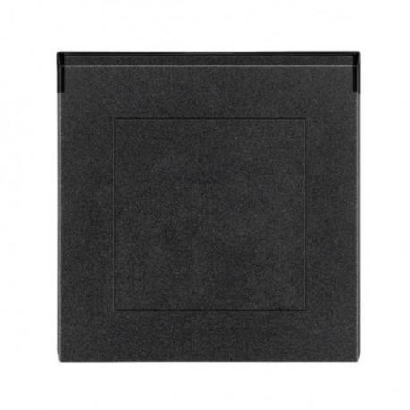 Zásuvka ABB LEVIT onyx/kouřová černá